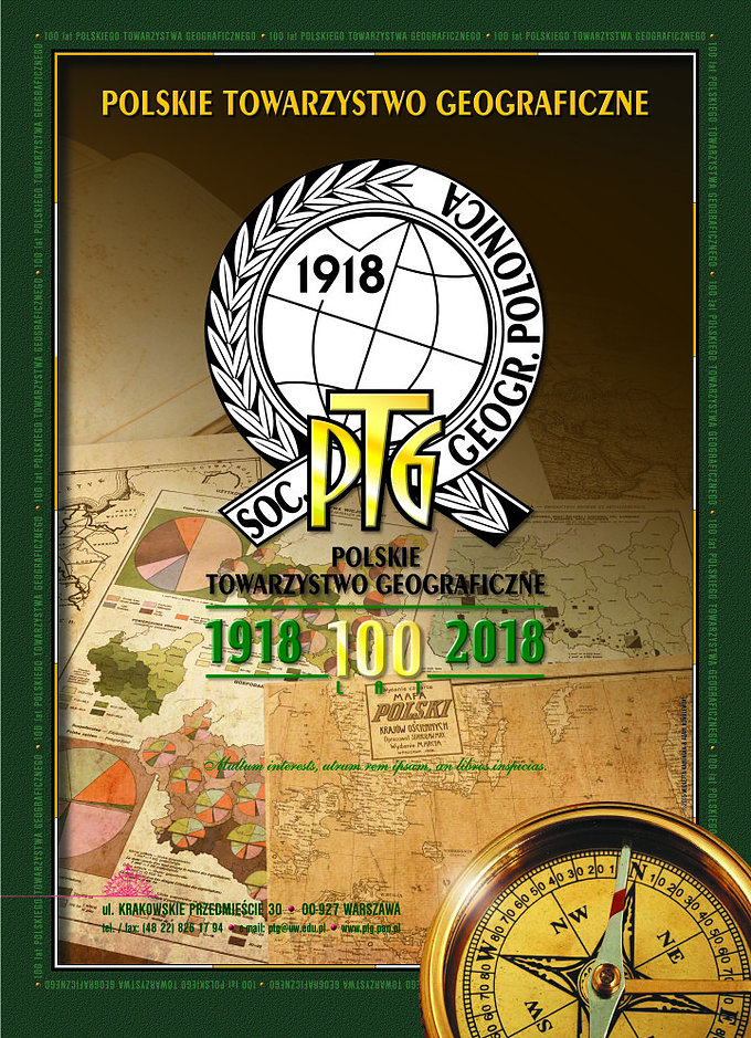 100th anniversary of Polish Geographical Society 1918-2018