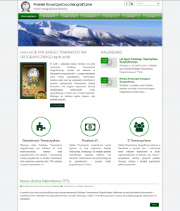 New website of Polish Geographical Society