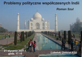Wykład pt. Problemy polityczne współczesnych Indii
