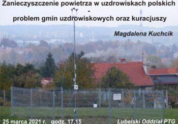 Wykład pt. Zanieczyszczenie powietrza w uzdrowiskach polskich